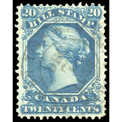 canada revenue stamp fb28 second bill issue 20 1865