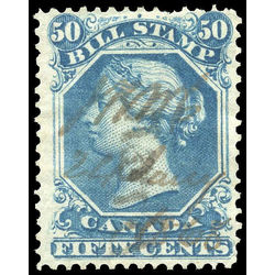 canada revenue stamp fb32 second bill issue 50 1865