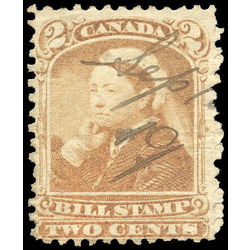 canada revenue stamp fb38 third bill issue 2 1868