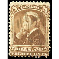 canada revenue stamp fb45 third bill issue 8 1868