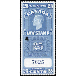 canada revenue stamp fsc24 george vi 25 1938