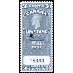 canada revenue stamp fsc25a george vi 50 1938