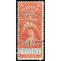 canada revenue stamp fe11 electric light effigy 60 1900
