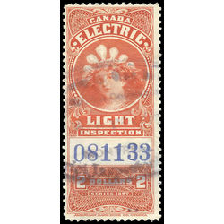 canada revenue stamp fe15a electric light effigy 3 1900