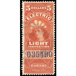 canada revenue stamp fe16a electric light effigy 5 1900