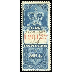 canada revenue stamp fg10 crown gas inspection 50 1875