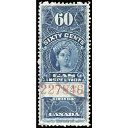 canada revenue stamp fg20 victoria gas inspection 60 1897