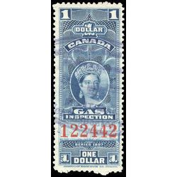 canada revenue stamp fg22 victoria gas inspection 1 1897