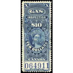 canada revenue stamp fg29 victoria gas inspection 10 1897