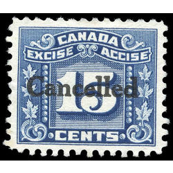 canada revenue stamp fx75 three leaf excise tax 15 1934