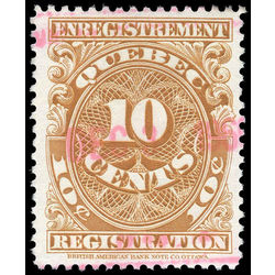 canada revenue stamp qr17 registration 10 1912