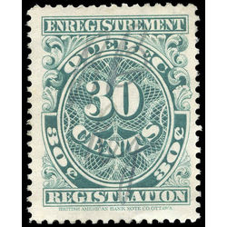 canada revenue stamp qr20 registration 30 1912