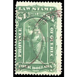 canada revenue stamp ql49 law stamps 4 1893