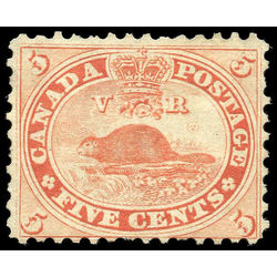 canada stamp 15iv beaver 5 1859 m vg 001