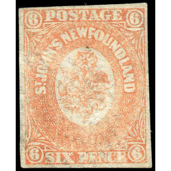 newfoundland stamp 13 1860 second pence issue 6d 1860 u vf 001