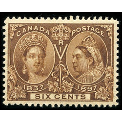 canada stamp 55i queen victoria jubilee 6 1897 m vf 001