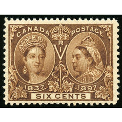 canada stamp 55i queen victoria jubilee 6 1897 m vf 002
