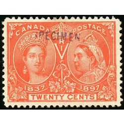 canada stamp 59 queen victoria jubilee 20 1897 m vf s 002