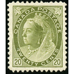 Canada stamp 84 queen victoria 20 1900 m vf 001