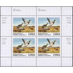 saskatchewan wildlife federation stamp sw4b mallards 1993