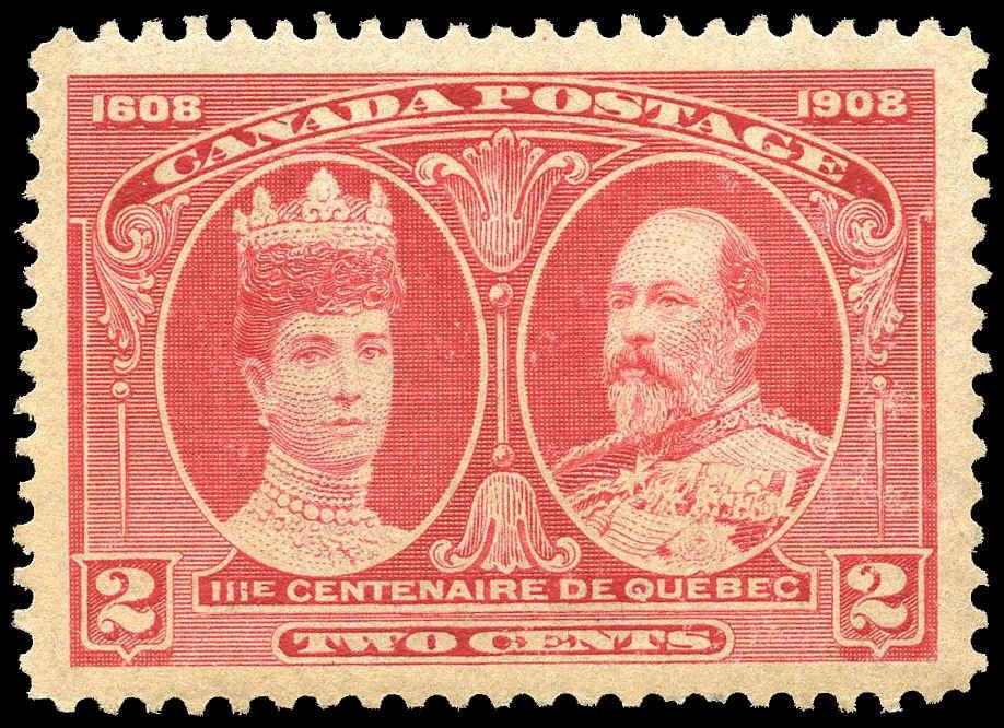 Canada Stamp 98 King Edward Vii Queen Alexandra 2 1908 M Xfnh 001
