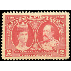 Canada stamp 98 king edward vii queen alexandra 2 1908 m xfnh 001