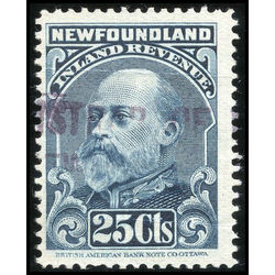 canada revenue stamp nfr10 king edward vii 25 1907