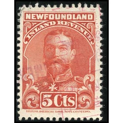 canada revenue stamp nfr16a king george v 5 1910