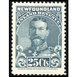 canada revenue stamp nfr18a king george v 25 1910