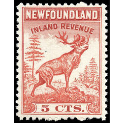 canada revenue stamp nfr26 caribou 5 1938
