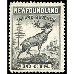 canada revenue stamp nfr27 caribou 10 1938