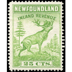 canada revenue stamp nfr28 caribou 25 1938