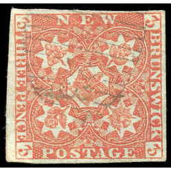 new brunswick stamp 1a pence issue 3d 1851 u vf 001
