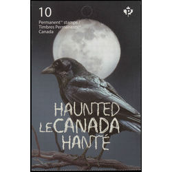 canada stamp complete booklets bk bk630 haunted canada 2015