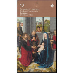 canada stamp complete booklets bk bk633 christmas madonna and child 2015