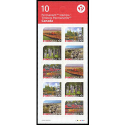 canada stamp complete booklets bk bk638 unesco world heritage sites in canada 2016