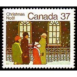Canada stamp 1005 family going to church 37 1983