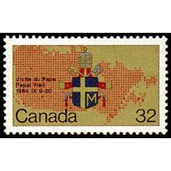 canada stamp 1030 papal coat of arms and map 32 1984