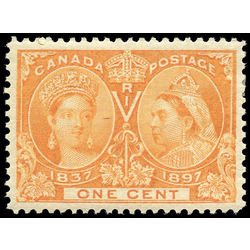 Canada stamp 51 queen victoria jubilee 1 1897 m vf 001