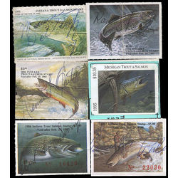 United states trout salmon license stamps range from 1981 1995