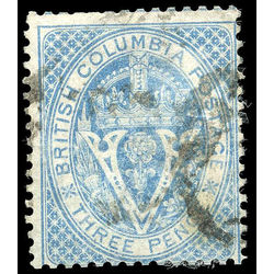 British columbia vancouver island stamp 7a seal of british columbia 3d 1865 u f 004