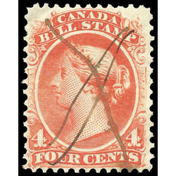 canada revenue stamp fb21 second bill issue 4 1865
