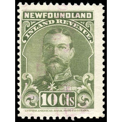 canada revenue stamp nfr17a king george v 10 1910