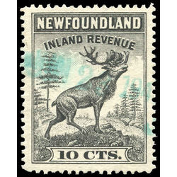 canada revenue stamp nfr47 caribou 10 1966