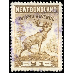 canada revenue stamp nfr50 caribou 1 1966