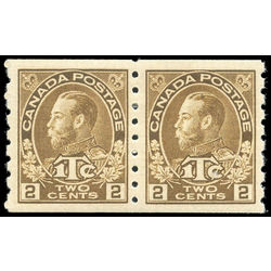 canada stamp mr war tax mr7apa war tax coil pair 1916 m vf 001