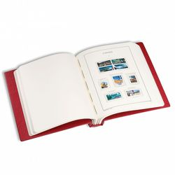 lighthouse canada hingeless stamp album red