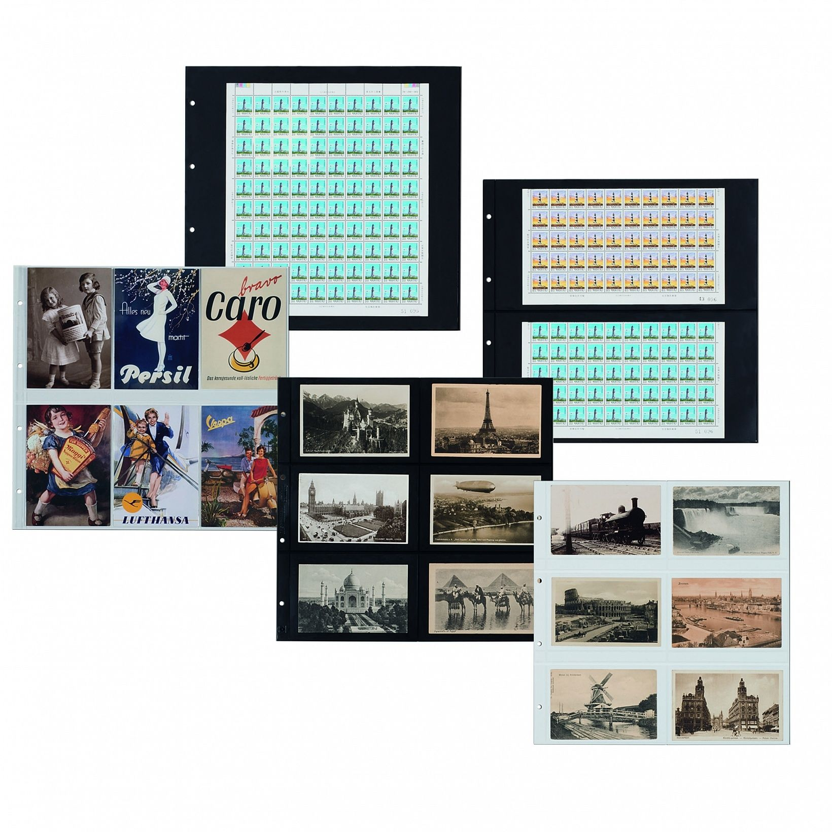 Buy MAXIMUM Sheets for postcards or mint sheets, pack of 5