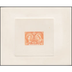 canada stamp 52 tcldp jubilee trial color large die proof in the adopted color of the one cent 2 1897