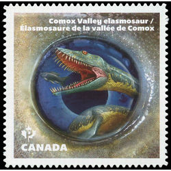 canada stamp 2928i comox valley elasmosaur from bc 2016